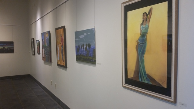 "The Centennial Hills Art Gallery inside the Centennial Hills Library, 6711 N. Buffalo Drive, is showing the exhibit ""A Joyful Perspective"" by John Trimble through May 10. Lisa Valentine/View"