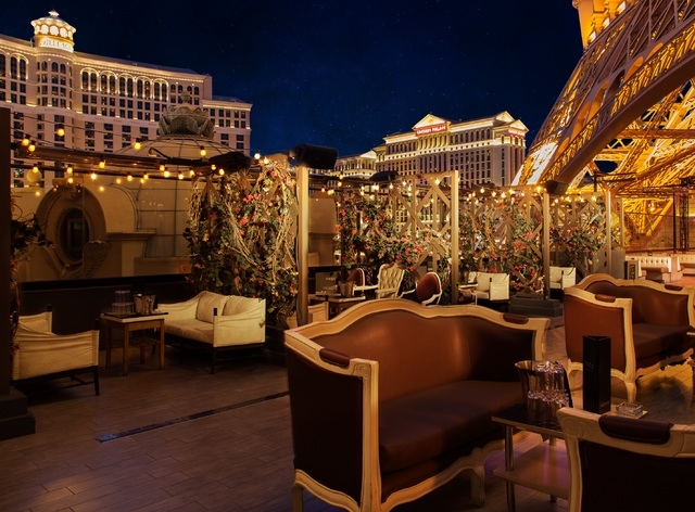 The rooftop bar at Chateau Nightclub at the Paris Hotel and Casino. (Courtesy/Chateau Nightclub)