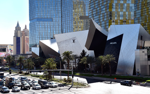 The Shops at Crystals at CityCenter is seen Friday, March 18, 2016, in Las Vegas. MGM Resorts International entered into an agreement to sell the 324,000 square-foot Strip luxury retail center for ...