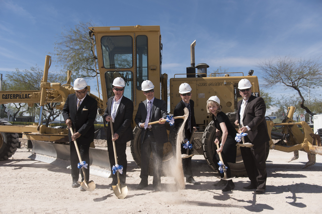 The groundbreaking ceremony for the Enclave at 5800 S. Eastern Ave. in Las Vegas is seen Wednesday, March 9, 2016. The Enclave will feature a 75,000 square foot event venue. Jason Ogulnik/Las Vega ...