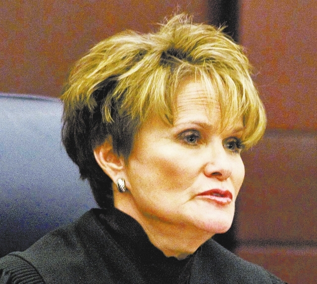 Nevada Supreme Court Chief Justice Nancy M. Saitta listens during arguments in Wayne Davenport v. GMAC at the Regional Justice Center, Monday, Dec. 5, 2011. (File, Jerry Henkel/Las Vegas Review-Jo ...