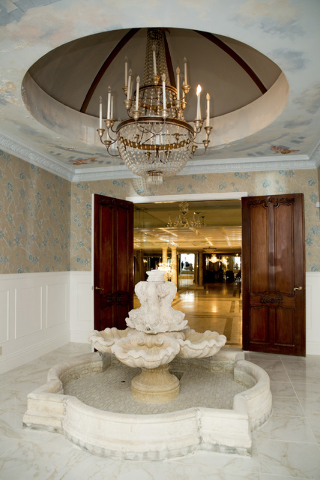 This fountain is near the first-floor master suite in the former Liberace mansion. It has been restored in the past six months. (Tonya Harvey/Real Estate Millions)