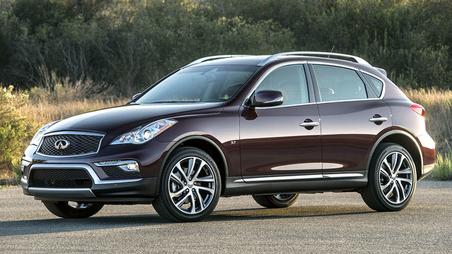 COURTESY The 2016 Infiniti QX50 luxury crossover provides a unique combination of a right-sized exterior with a luxurious interior environment and a suite of advanced technology features.
