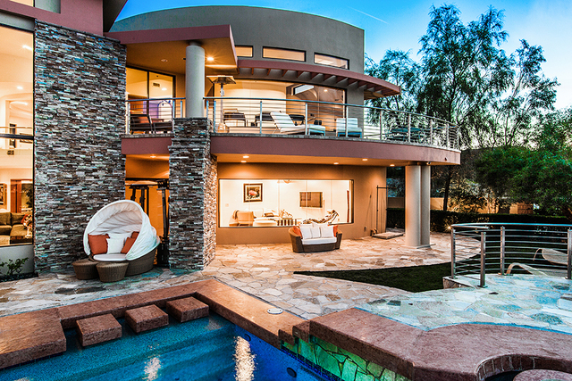 "Mickey Gonzalez designed this 14,485-square-foot showcase home he named ""Pincelada,"" which literally translates to brushstroke in Spanish. (COURTESY OF Shapiro & Sher Group)"