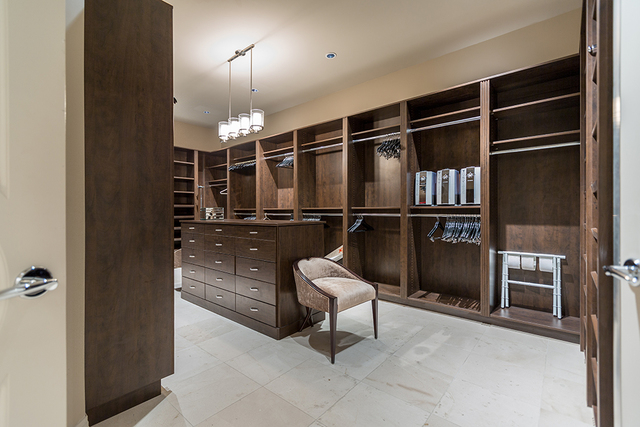 The master suite has a large closet. (COURTESY SHAPIRO & SHER GROUP)