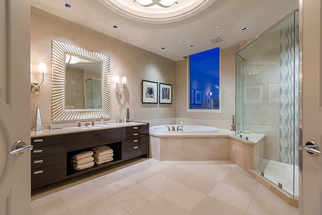 Her bath in the master bathroom, which also includes a bath for him. (COURTESY SHAPIRO & SHER GROUP)