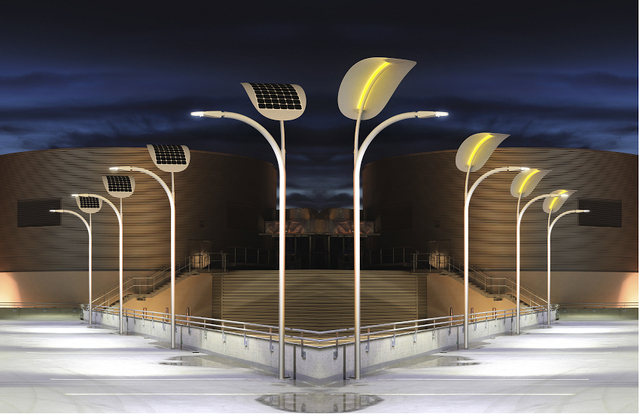 COURTESY PHOTO Petar Mirovic, chief executive officer of EnGoPLANET, said the company's kinetic and solar energy streetlights are an off-the-grid solution that uses zero energy and zero emissions.