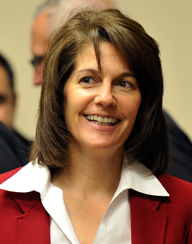 Catherine Cortez Masto appears at the Board of Regents meeting on Tuesday, Dec. 16, 2014, in Las Vegas. (David Becker/Las Vegas Review-Journal)