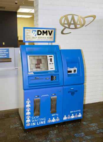 DMV in a Box kiosks have been at AAA locations since 2006 and recently two of those kiosks have been upgraded to take cash. Special to View