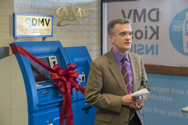 Bob Brown, director of public affairs for AAA Northern California, welcomed the community at the DMV in a Box event Feb. 26 at the AAA Las Vegas branch at 3312 W. Charleston Blvd. Special to View