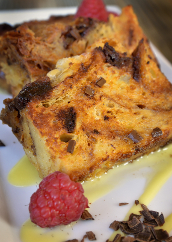 Chocolate croissant bread pudding French toast at Craft Kitchen. Bill Hughes/Las Vegas Review-Journal