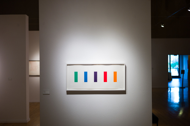 """Ellsworth Kelly's """"Color Panels"""" is featured in an exhibit of the late artist's works, on display through May 14 at UNLV's Barrick Museum. Chase Stevens/Las Vegas Review-Journal Follow @csstevensphoto"""