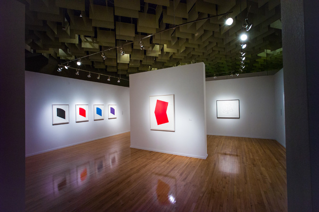 Eye-popping colors and precise geometric shapes characterize the Ellsworth Kelly exhibit at UNLV's Barrick Museum through May 14. Chase Stevens/Las Vegas Review-Journal Follow @csstevensphoto