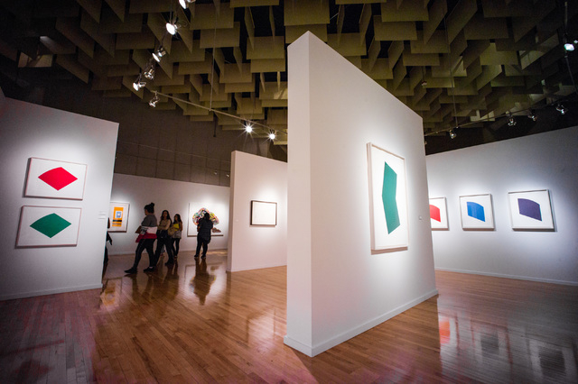 Bright pops of color seem to float on the walls of UNLV's Barrick Museum, where an exhibit of Ellsworth Kelly lithographs continues through May 14. Chase Stevens/Las Vegas Review-Journal Follow @c ...