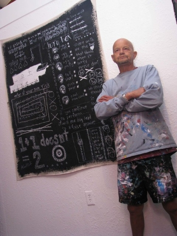 Artist and arts organizer Alexander P. Huerta is shown at Preview Thursday March 3. F. Andrew Taylor/View