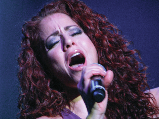 Janien Valentine performs at the Plaza Feb. 16. F. Andrew Taylor/View