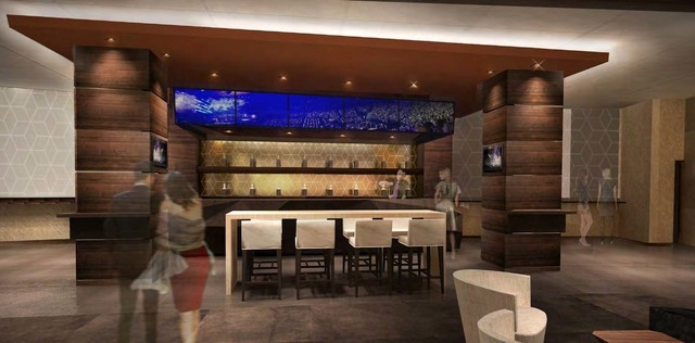 An artist's rendering of an event-level lounge at the T-Mobile Arena. The event level will have the arena's most opulent suites. (courtesy T-Mobile Arena)