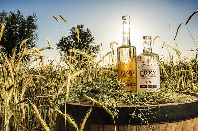 Vodka and gin are produced at Frey Ranch from grains grown on site. Courtesy of Jeff Dow Photography