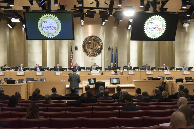 Owner of Fantasy Football Mastermind Inc., Michael Nazarek speaks during public comment at the Nevada Gaming Policy Committee meeting at Las Vegas City Hall Council Chambers Monday, March 7, 2016. ...