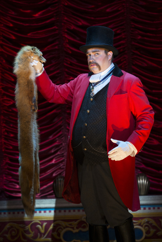 """John Rapson plays Lord Adalbert D'Ysquith -- and several other characters -- in the Tony-winning musical """"A Gentleman's Guide to Love & Murder,"""" at The Smith Center through Sunday. JOAN MARCUS ..."""
