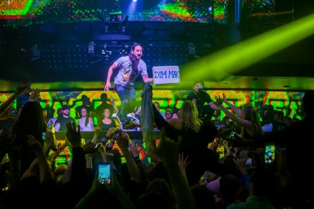 Steve Aoki performs at Hakkasan nightclub in the MGM. (Joe Torrance of Powers Imagery)