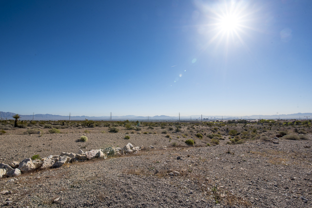 The site of the proposed NHL practice rink near Far Hills and the 215 Beltway is shown on Friday, March 18, 2016. (Joshua Dahl/Las Vegas Review-Journal)