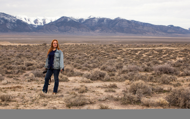 Laura Leigh, horse activist, checks on the wellbeing of  the horses in a horse management area of Antelope Valley, Nev. on Thursday March 3, 2016. Randi Lynn Beach/Las Vegas Review-Journal