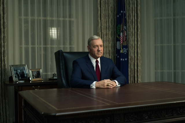 "Kevin Spacey stars in ""House of Cards."" (David Giesbrecht/Netflix)"