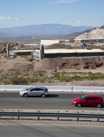 Construction on Interstate 11 between Henderson and Boulder City continues on Tuesday, March 29, 2016. Daniel Clark/Las Vegas Review-Journal Follow @DanJClarkPhoto