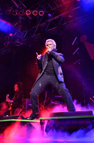 Billy Idol performs at the House of Blues in the Mandalay Bay hotel-casino at 3950 Las Vegas Blvd. South on Wednesday, March 16, 2016. Bill Hughes/Las Vegas Review-Journal