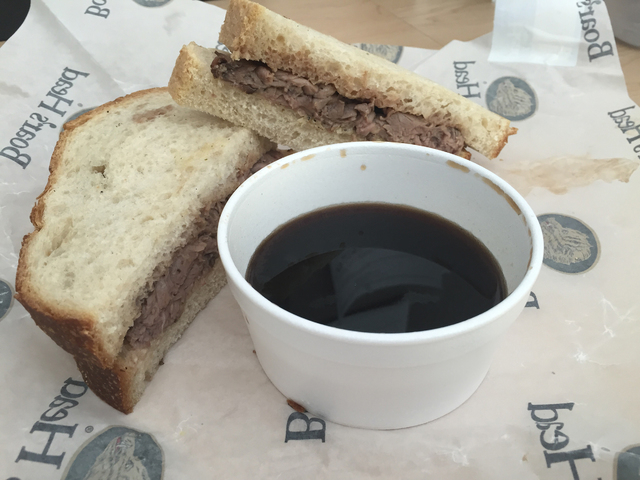 The French Dip sandwich is shown at Woods Family Sandwiches, 931 American Pacific Drive, Suite 106. Caitlyn Belcher/Special to View