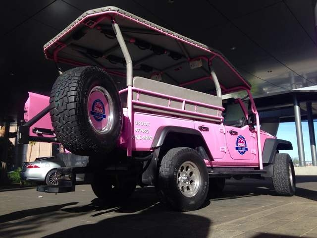 The Pink Jeep vehicle outside of the Linq Promenade during a tour on Wednesday, March 8, 2016. Kimberly De La Cruz/Las Vegas Review-Journal