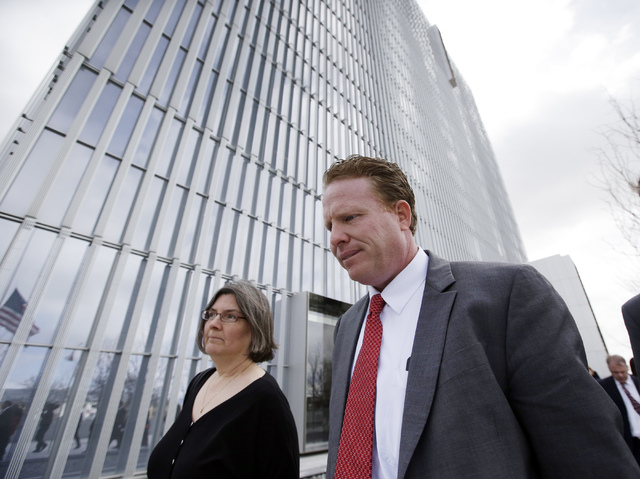 Utah businessman Jeremy Johnson leaves the Federal Courthouse Friday, March 25, 2016, in Salt Lake City. (AP Photo/Rick Bowmer)