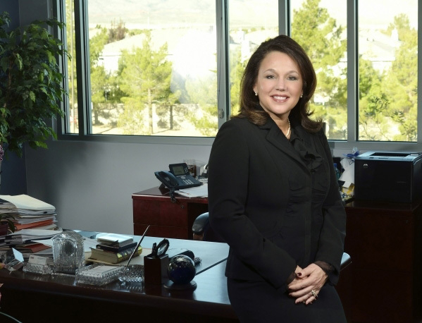 Karla Perez, vice president at Universal Health Services and regional vice president of The Valley Health System, is shown in her office at 10105 Banburry Cross Drive in Las Vegas on Nov. 25, 2015 ...