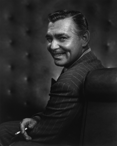 Another shot of Hollywood legend Clark Gable, 1948, by Yousuf Karsh. (Courtesy/Bellagio Gallery of Fine Art)