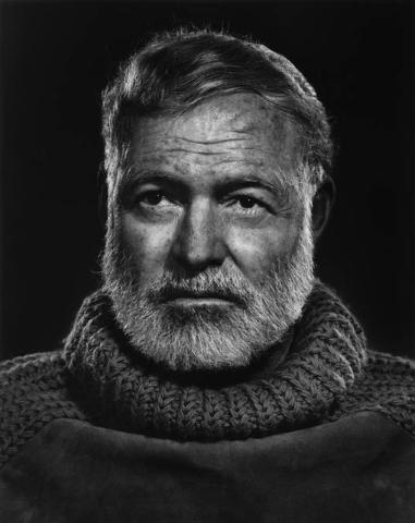 Ernest Hemingway, Cuba 1957, by Yousuf Karsh. (Courtesy/Bellagio Gallery of Fine Art)