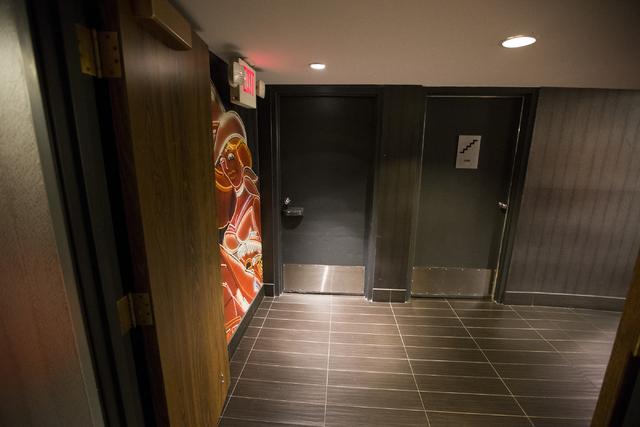 An unmarked door leading to a laundry chute is shown on the 18th floor of the D Las Vegas casino-hotel on Tuesday, March 22, 2016, in Las Vegas. Erik Verduzco/Las Vegas Review-Journal Follow @Erik ...