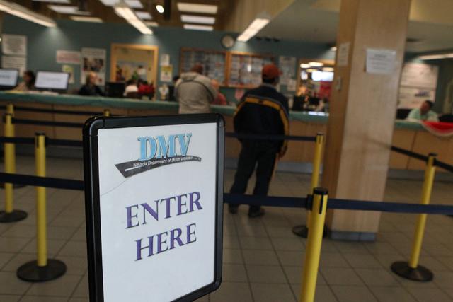The DMV, 2701 E. Sahara Ave., in Las Vegas is seen on Tuesday, Dec 23, 2014. (Erik Verduzco/Las Vegas Review-Journal)