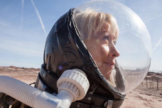 Pamela Nicoletatos, crew leader, works outside the Hab at Mars Desert Research Station in the high desert of Eastern Utah Wednesday, March 16, 2016. Randi Lynn Beach/Las Vegas Review-Journal