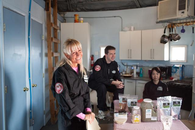 Pamela Nicoletatos, crew leader, waits to help with lunch at Mars Desert Research Station in the high desert of Eastern Utah Wednesday, March 16, 2016. Randi Lynn Beach/Las Vegas Review-Journal