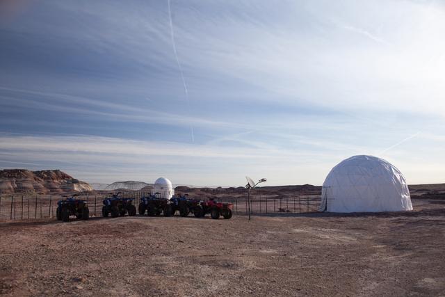 The Mars Desert Research Station is shown in the high desert of Eastern Utah Wednesday, March 16, 2016. Randi Lynn Beach/Las Vegas Review-Journal