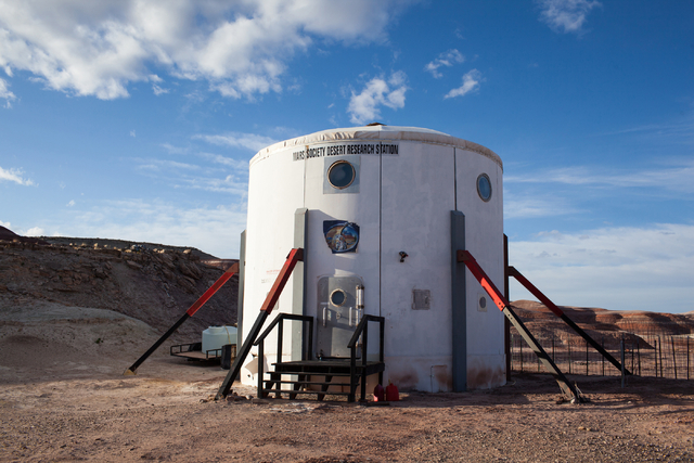 The Hab at Mars Desert Research Station in the high desert of Eastern Utah is shown Wednesday, March 16, 2016. Randi Lynn Beach/Las Vegas Review-Journal