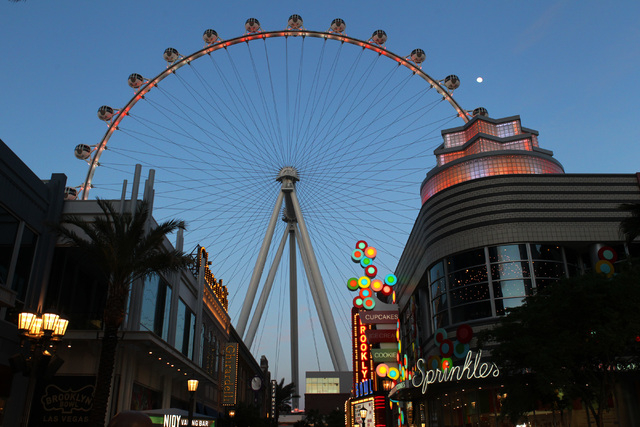 The High Roller at The Linq is seen Tuesday, March 31, 2015. (Las Vegas Review-Journal)