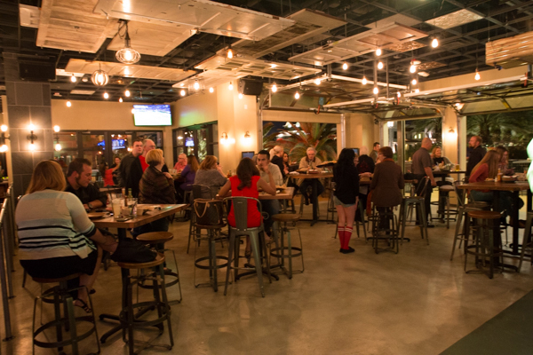 Attendees Dine During Loco Cantina S Grand Opening At Town Square Las Vegas On The Second Floor