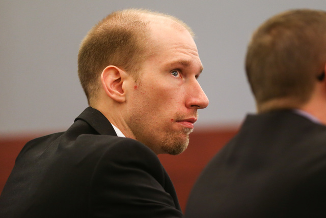 Jason Lofthouse looks on during his trial at the Regional Justice Center in Las Vegas on Wednesday, March 23, 2016.  (Chase Stevens/Las Vegas Review-Journal Follow @csstevensphoto)