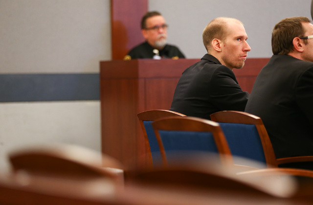 Jason Lofthouse looks on during his trial at the Regional Justice Center in Las Vegas on Tuesday, March 22, 2016.  (Chase Stevens/Las Vegas Review-Journal Follow @csstevensphoto)