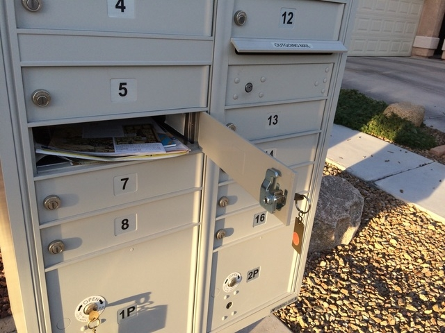 A mailbox is seen March 1 in a northwest neighborhood. Mail theft has been a concern with the economy still depressed in the valley. The post office says it is installing newer mailbox clusters, l ...
