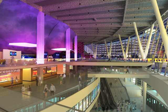 An Artist S Rendering Of The Main Concourse At T Mobile Arena Which Opens