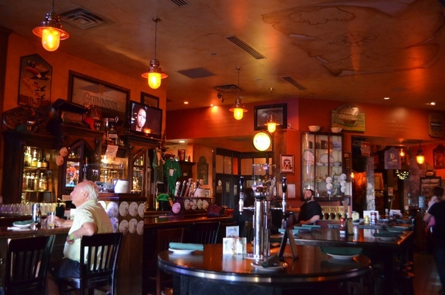 A map adorns the ceiling at McMullan's Irish Pub, 4650 W. Tropicana Ave. Ginger Meurer/Special to View