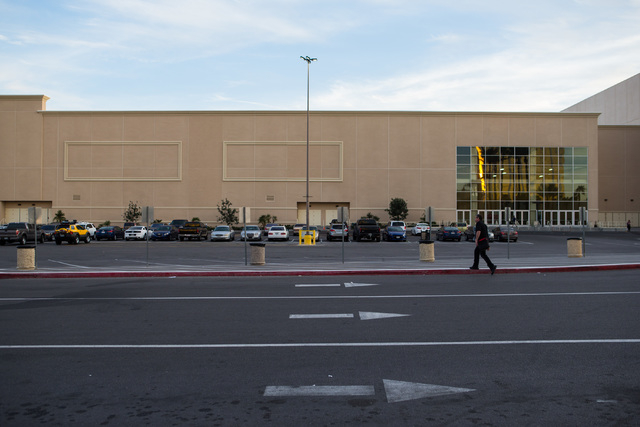 A man walks outside of the Mandalay Bay Convention Center in Las Vegas on Friday, Feb. 26, 2016. Chase Stevens/Las Vegas Review-Journal Follow @csstevensphoto
